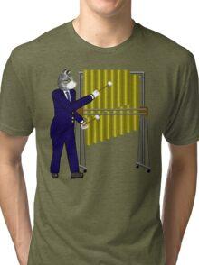 Cat playing Tubular Bells Tri-blend T-Shirt