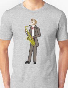 Male Cat playing Saxophone Unisex T-Shirt