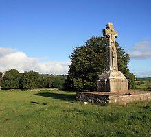 Dysart O Dea Celtic Cross and church by John Quinn