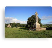 Dysart O Dea Celtic Cross and church Canvas Print