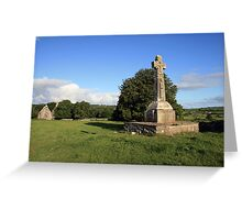 Dysart O Dea Celtic Cross and church Greeting Card
