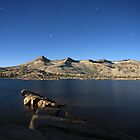 Aloha Lake and Pyramid Peak at Moon Light by Christophe Testi