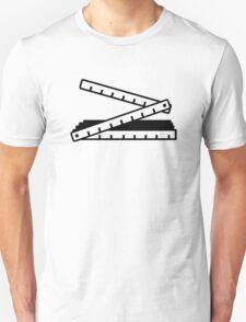 Folding rule yard stick T-Shirt