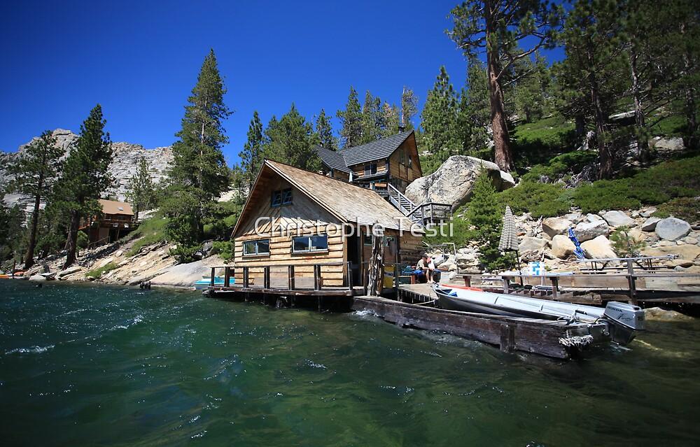 Cabin on echo lake by christophe testi redbubble for Echo lake ca cabine