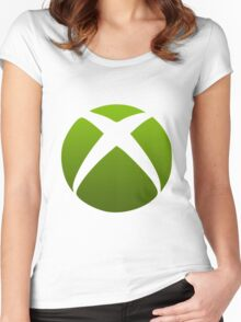 Xbox Logo Design Women's Fitted Scoop T-Shirt
