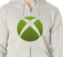 Xbox Logo Design Zipped Hoodie