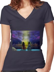 Korrasami with End Credits Women's Fitted V-Neck T-Shirt