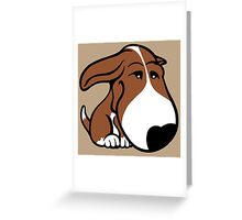 Soppy Bull Terrier Brown and White Coat Greeting Card