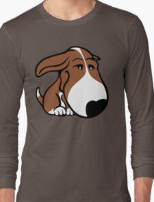 Soppy Bull Terrier Brown and White Coat Long Sleeve T-Shirt