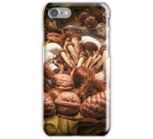 Autumnal still life composition with mushrooms iPhone Case/Skin