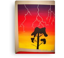 Lighting Bolt Canvas Print