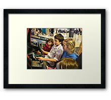 Racing competition Framed Print