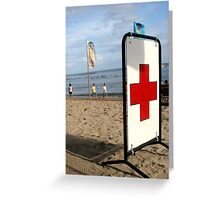Lifeguard Station Greeting Card