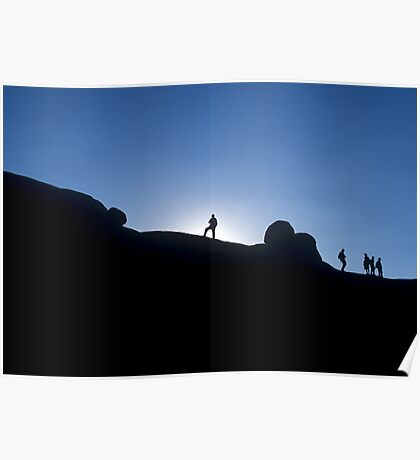 Sunset in Namibia Poster