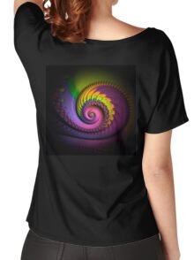 psychedelic, FRACTAL BUDS, prints, posters, wall art, decor, gifts Women's Relaxed Fit T-Shirt