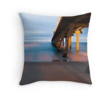 Pumping Jetty Throw Pillow