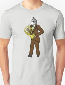 Male Cat playing French Horn T-Shirt