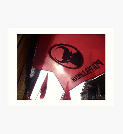 raise the red flag Art Print