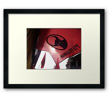raise the red flag Framed Print