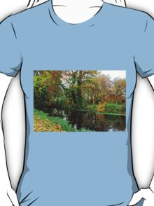 River Wandle in Autumn, Morden, England T-Shirt