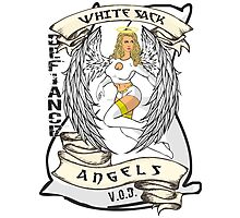 White Sack Angels: Defiance Forever! Photographic Print