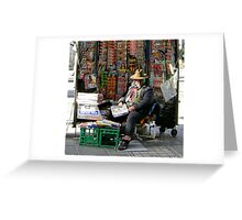 Newsman in Melbourne Greeting Card