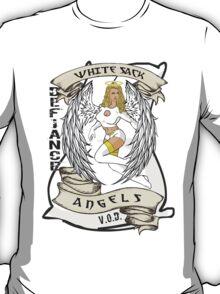 White Sack Angels: Defiance Forever! T-Shirt