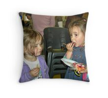 Party Girls Throw Pillow