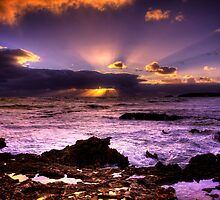 Blowhole Sunset by Steve Chapple
