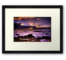Blowhole Sunset Framed Print