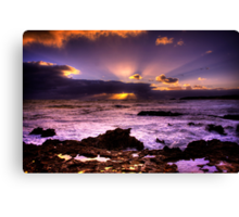 Blowhole Sunset Canvas Print