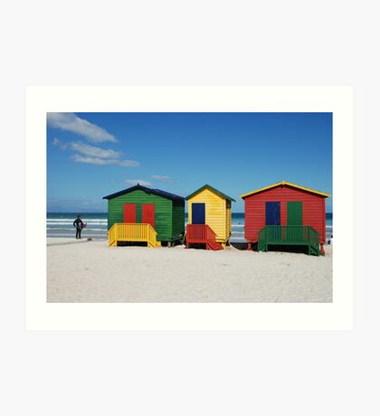 Muizenberg Beach Huts Art Print