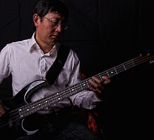 Bassist by Ant Vaughan