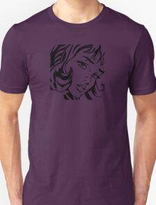 Girl With Hair Ribbon - Roy Lichtenstein Stencil Unisex T-Shirt