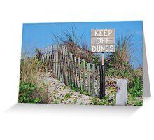 Keep Off Greeting Card