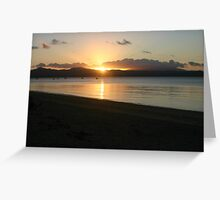 Sunset over Dunk Island  Greeting Card
