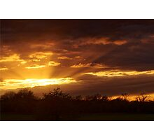 Dramatic Skies at Dusk Over South London, England Photographic Print