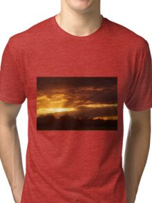 Dramatic Skies at Dusk Over South London, England Tri-blend T-Shirt