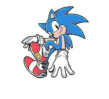 Sonic Sitting Photographic Print