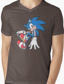 Sonic Sitting Mens V-Neck T-Shirt