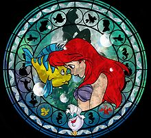 Ariel Stained Glass by MazukiArts