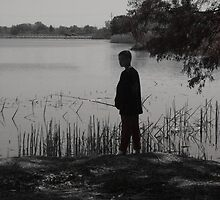 Boy Fishing by steelwidow