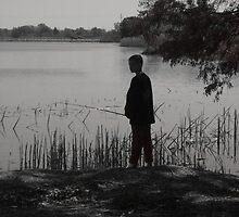 Boy Fishing by steelwidow