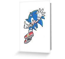 Sonic Jumping Greeting Card