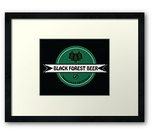 Black Forest Beer logo Framed Print