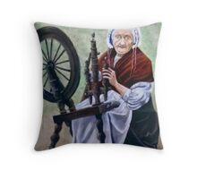 """Old Irish Spinner"" Throw Pillow"