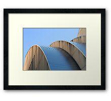 Kauffman Center Blue Curves Framed Print