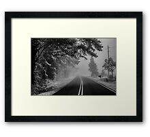 Disappearing Road Framed Print