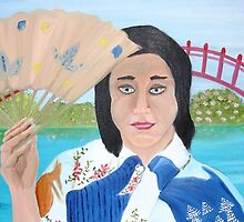 Japanese Woman With Fan by towncrier