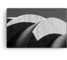 Kauffman Center Black and White Curves and Shadows Canvas Print